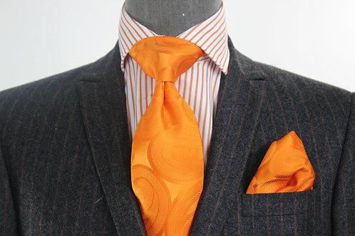 Orange Solid Fiat 7 Tie