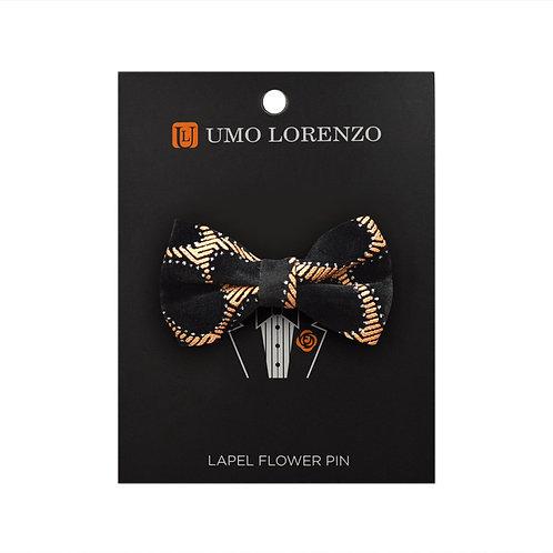 Honey Comb Bow Lapel Pin