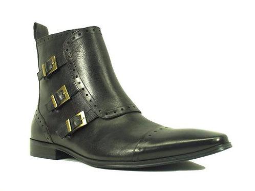 Monk Strap Zip Boots