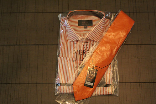 Orange Stripe & Tie Combo