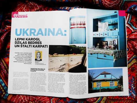 """Raksts """"Ukraina: lepni karogi, dziļas bedres un stalti Karpati"""""""