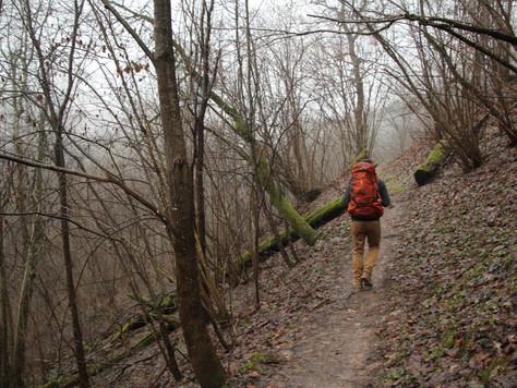 2016. gada 21. decembris. Ēriks Latvijā. 30 km pastaiga miglā Krimulda - Līgatne