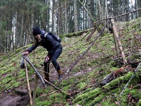 2020. gada 22. – 23. februāris. Latvija. Pārgājiens Viesatas upes lokos ar nakšņošanu mežā
