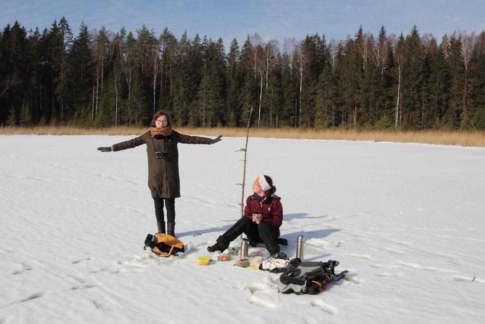 2018. gada 11. marts. Latvija. 25 km pārgājiens Tukuma apkārtnes mežos un purvos (ejam dabā #2)