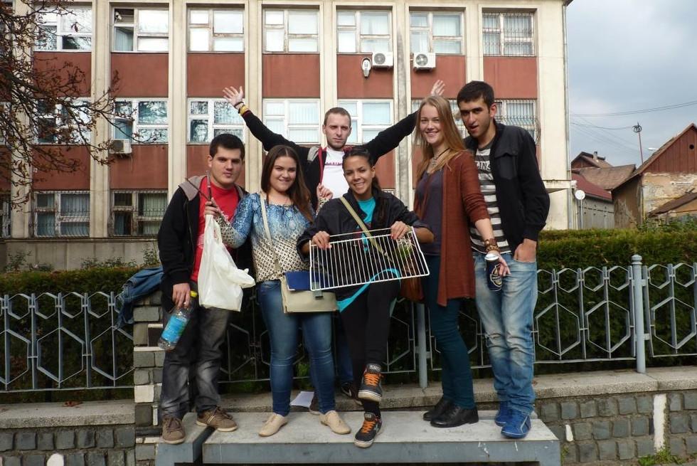 2013. gada 30. oktobris. Jauniešu apmaiņa Rumānijā. 4. diena.  Romeo un Džuljeta gruzīnu un latviešu