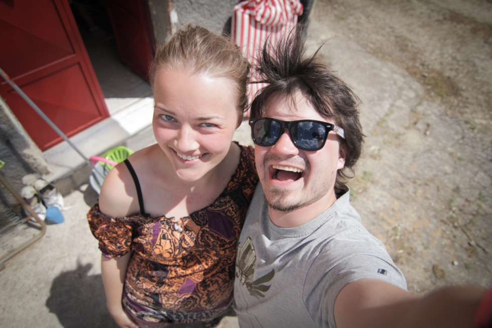2014. gada 16. maijs. Jauniešu apmaiņa Itālijā. 11. diena. Apelsīnu štopēšana somā