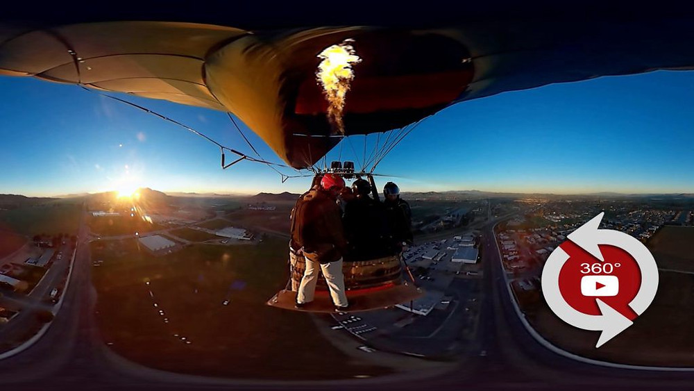 360° video in an air balloon