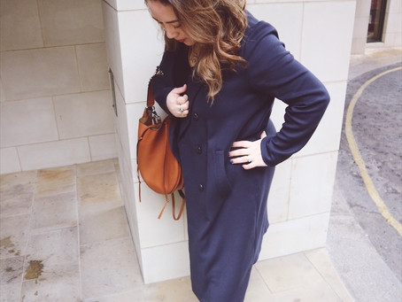 Navy Trench, Tan Leather, Perfect Match