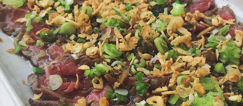 Seared Beef Tataki and Ponzu Dipping Sauce