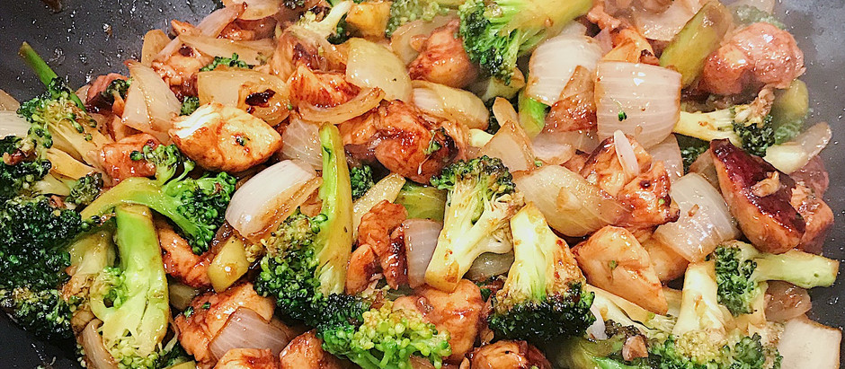 """Chinese """"FAKE-away"""" - Chicken and Broccoli Stir Fry"""