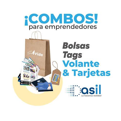 Bolsas, Volantes, Tarjetas y Tags con logo de tu Empresa