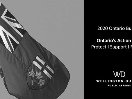 Finance Minister Rod Phillips released Ontario's Action Plan: Protect, Support, Recover