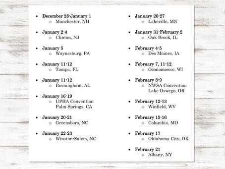 2019 winter travel schedule released