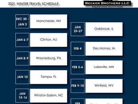 2021 Winter Travel Schedule Update