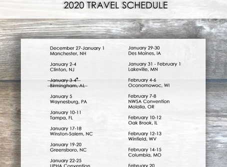 2020 Winter Travel Schedule has been updated