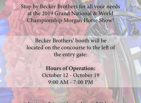 Becker Brothers announces hours of operation for 2019 Morgan Grand National & World Championship