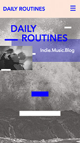 Bloggar & forum website templates – Indie Music Blog