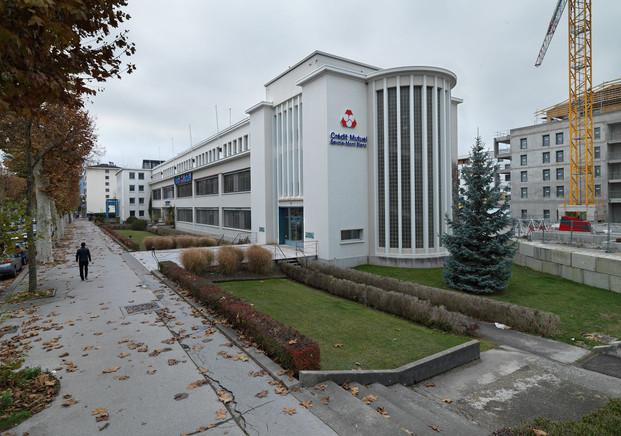 La région Auvergne-Rhône-Alpes Inventaire générale du Patrimoine  Usine Gillette (rasoirs et lames) actuellement immeuble de bureaux du siège du Crédit Mutuel ...