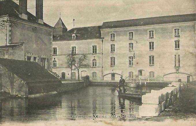 """Ileufuus CPA n° 36 -005  """"Les Moulins"""""""