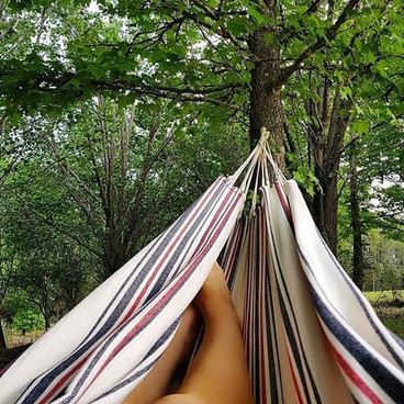 We see you, perfect hammock between the