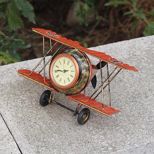 Iron Bell Model Aircraft Clocl