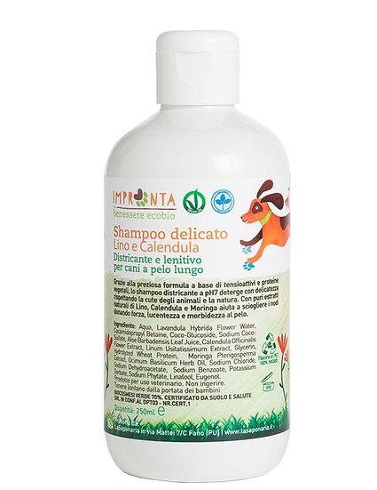 Shampoo delicato per cani a pelo lungo