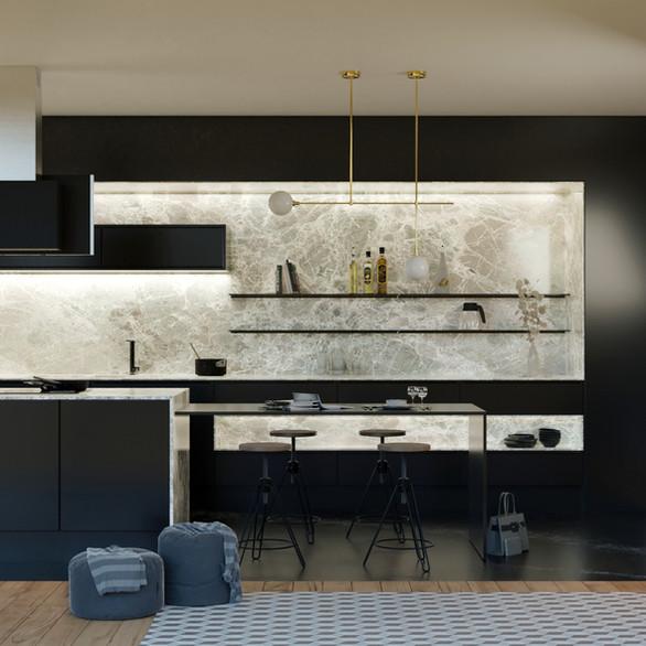 3D Rendering/kitchen