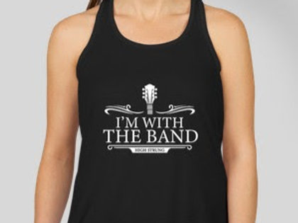 """WOMEN'S """"I'M WITH THE BAND"""" TANK"""