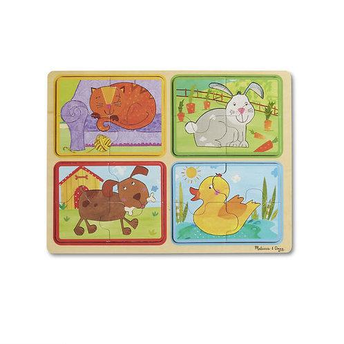 Wooden Puzzle - Playful Pals - M&D