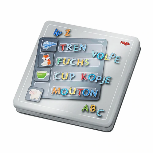 Magnetic Game in Tin Alphabet