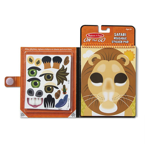 Make-a-Face Safari Sticker Pad - M&D
