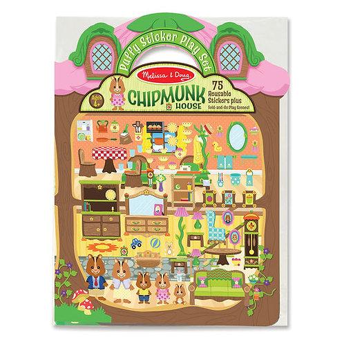 Puff Sticker Chipmunk House - M&D