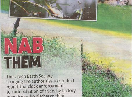 GES Slams Factories Discharging waste into Rivers.