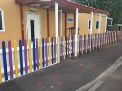 The fence outside the Yellow Room