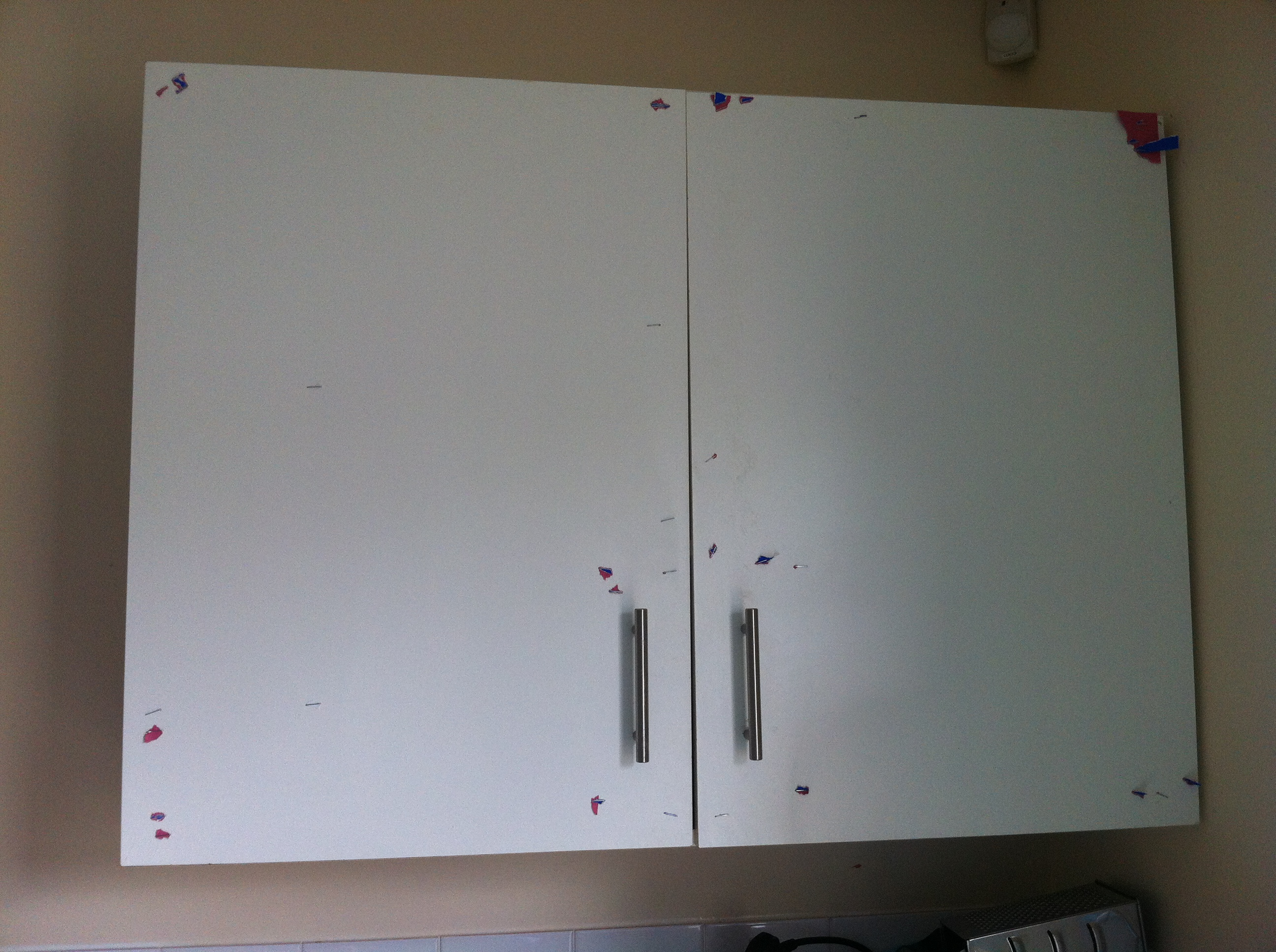 Battered cupboards