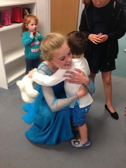 A hug from Oscar