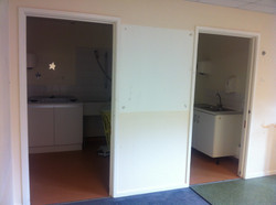 Yellow room cupboards