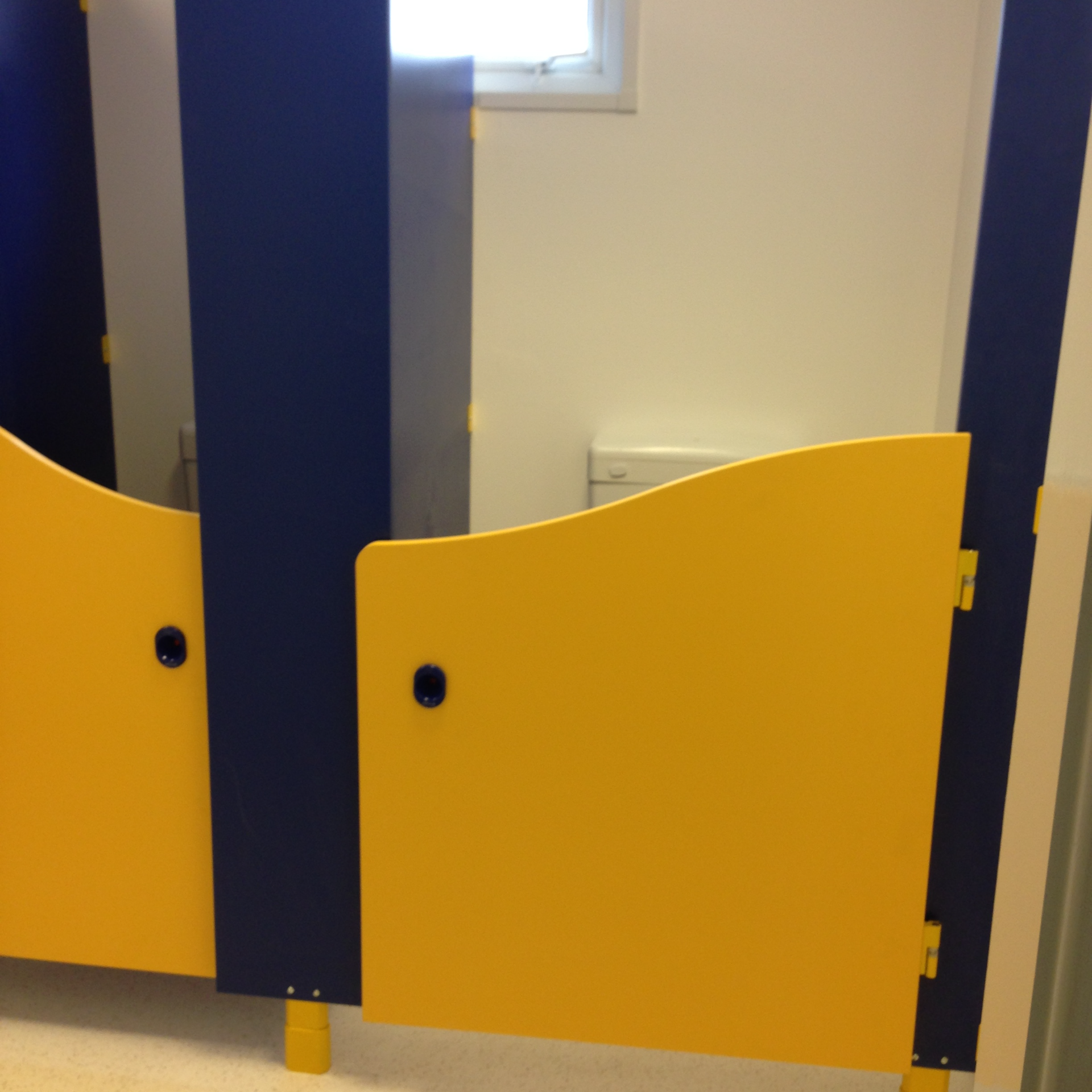 Blue & Yellow Room Toilets