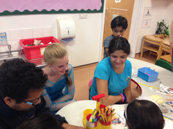 Elsa joined Deepti in the Red room