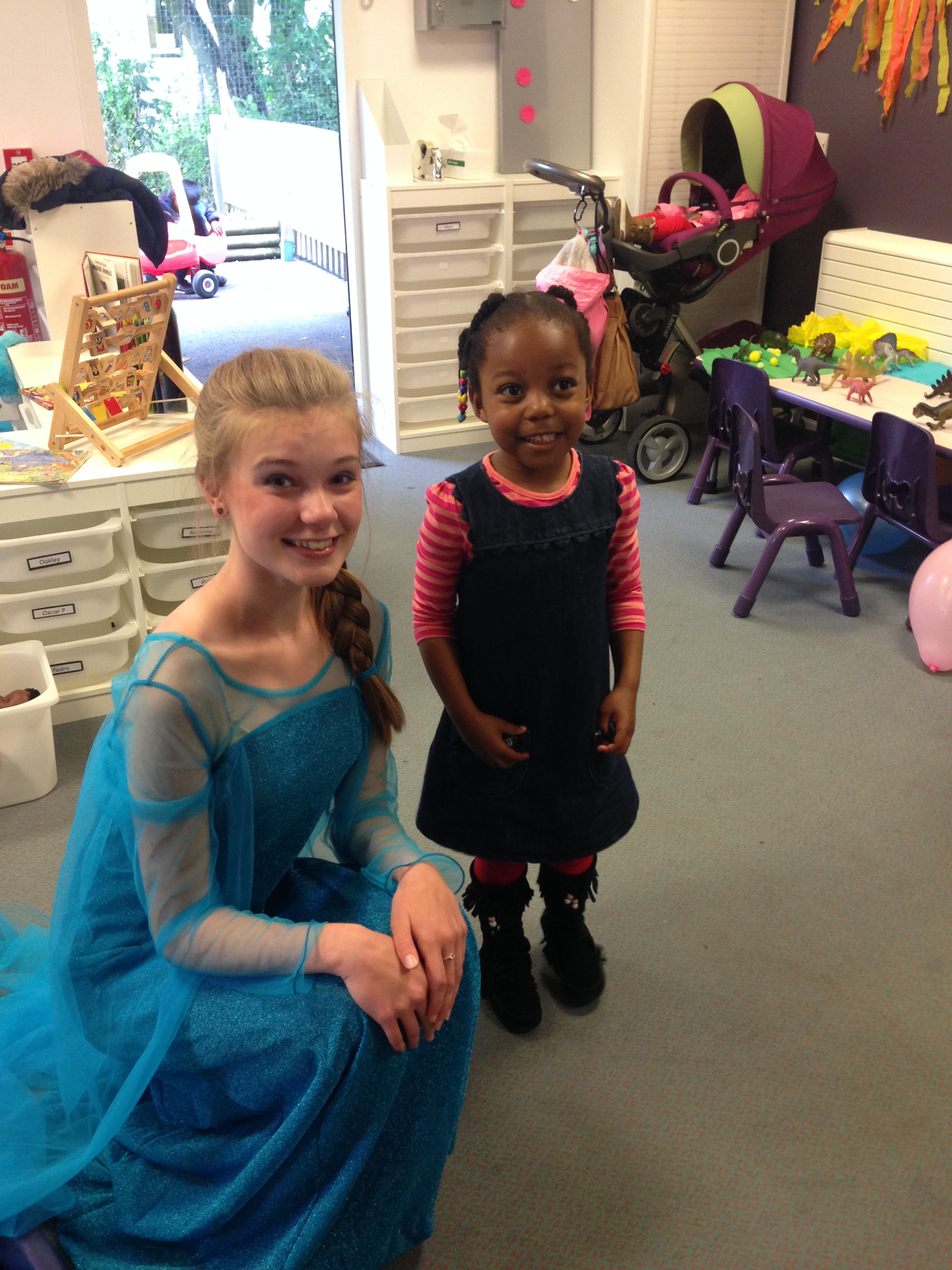 Elsa with her biggest fan!!