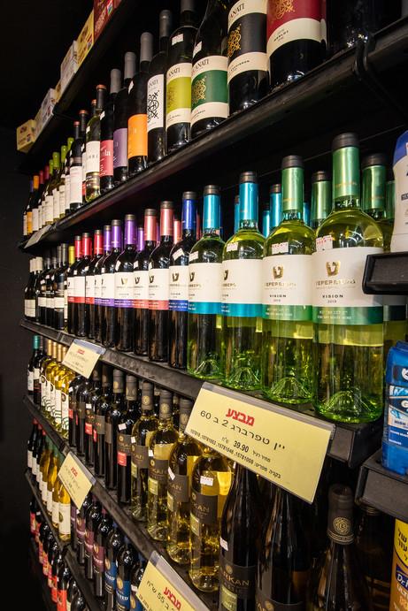 מדפי יינות
