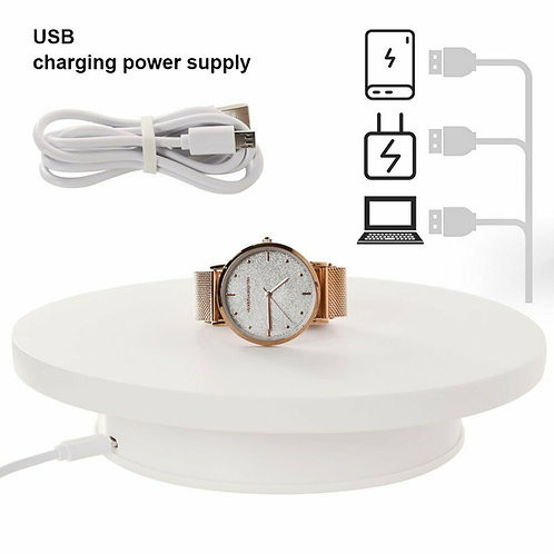 20cm 360 Degree Electric Rotating Turntable Display Stand fr exhibition shot HOT