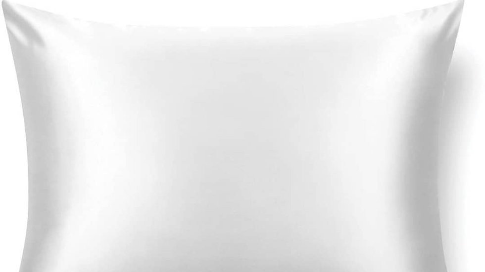 silk pillowcase in pure white