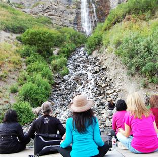 Meditation at Bridal Veil Falls