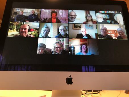 Videokonferenz mit Freunden aus Dorking