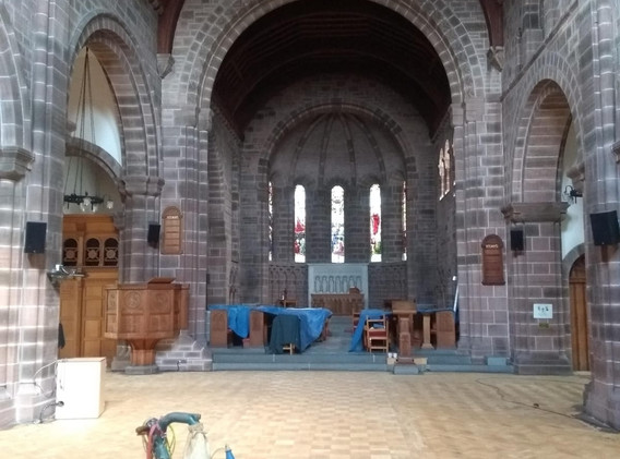 St Marks During  Sanding Process