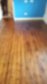 Floorboards sanded & oiled