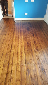 Floorboards sanded & oiled