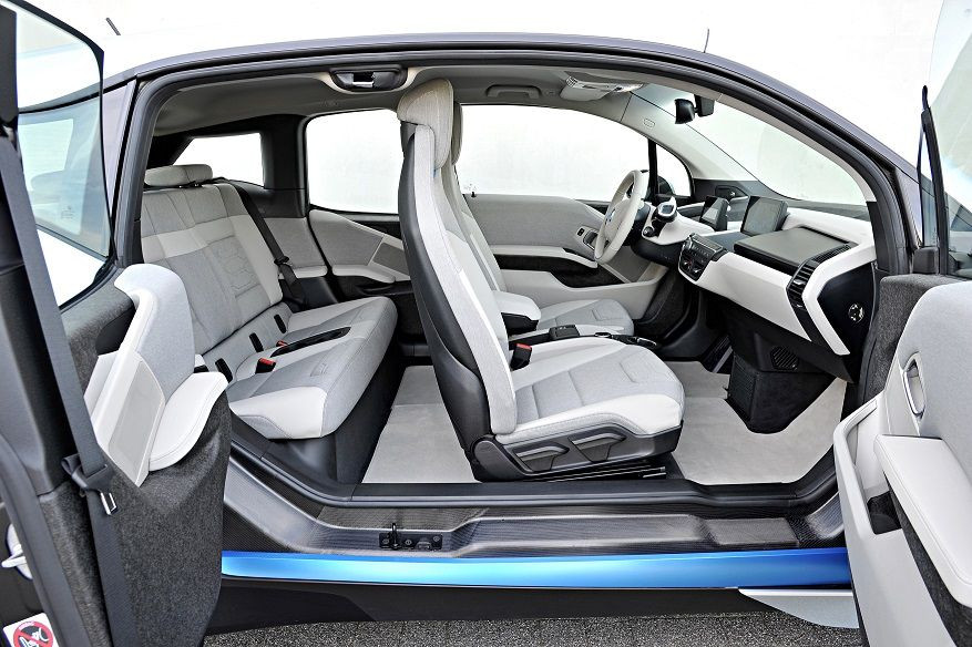 BMW i3's interior seats are made from recycled from plastic bottles.