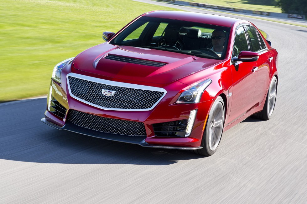 The 2016 Cadillac CTS-V Sedan. General Motors now plans to make a plug-in hybrid version of every Cadillac model. Photo: Handout
